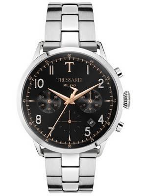 Trussardi T-Evolution R2453123006 Cronógrafo Quartz Relógio Masculino
