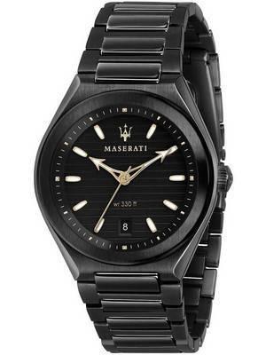 Maserati Triconic Black Dial Quartz R8853139004 100M Men\'s Watch