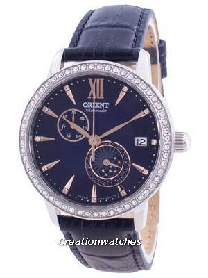 Orient Sun & Moon Phase Diamond Accents Automatic Japan Made RA-AK0006L00C Women\'s Watch
