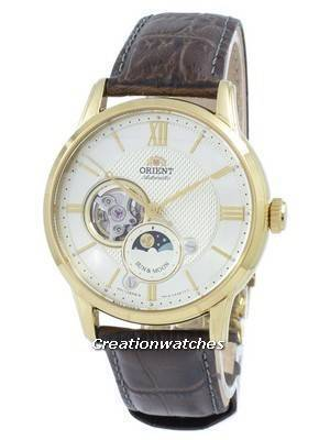 Orient Classic Sun & Moon Open Heart Automatic Japan Made RA-AS0004S10B Men's Watch