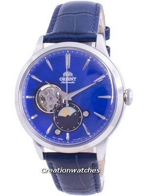 Orient Sun & Moon Phase Open Heart Dial Automatic RA-AS0103A10B Men\'s Watch