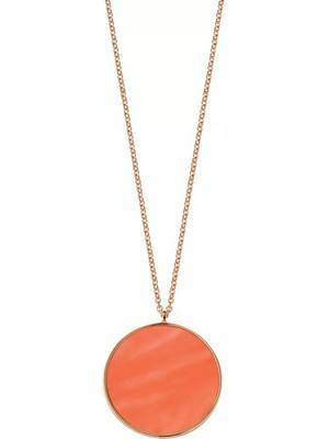 Colar feminino em prata esterlina SALX11 Morellato Perfetta rosa tom ouro