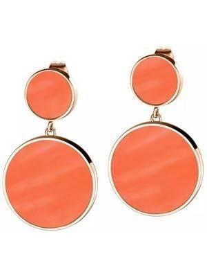 Brinco Morellato Perfetta rosa ouro prata esterlina SALX16 feminino