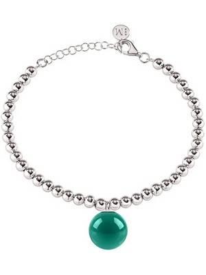 Corrente de contas de aço inoxidável Morellato Boule pulseira feminina SALY20