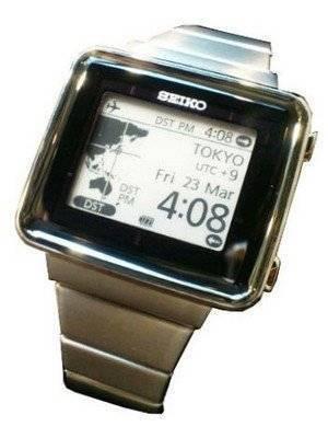 Seiko Solar Radio Control World Time Active Matrics EPD SBPA003 Watch