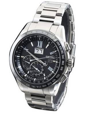 Seiko Astron SBXB137 GPS Solar Big-Date Perpetual Calendar Dual Time Men's Watch
