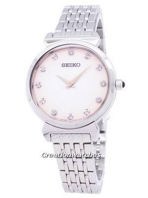 Seiko Quartz SFQ803 SFQ803P1 SFQ803P Diamond Accents Women's Watch
