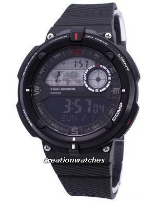 Casio Outdoor SGW-600H-1B Twin Sensor Quartz Digital Assista Men