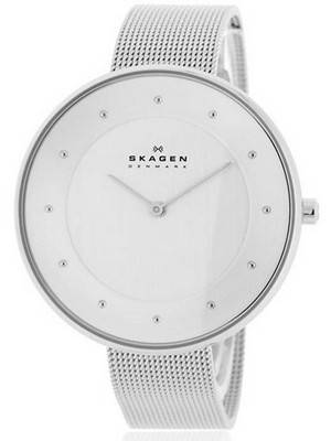 Skagen Gitte Silver Dial Crystals Stainless Steel SKW2140 Women's Watch