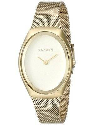Skagen Madsen Matte Gold Dial Gold-Tone Mesh Bracelet SKW2298 Women's Watch