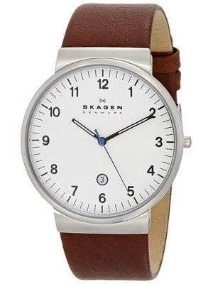 Skagen Ancher Brown Leather Strap SKW6082 Men's Watch