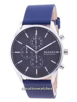 Skagen Holst Chronograph Leather Strap Quartz SKW6653 Men\'s Watch