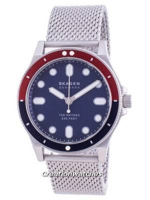 Skagen Fisk Blue Dial Stainless Steel Quartz SKW6668 100M Men\'s Watch