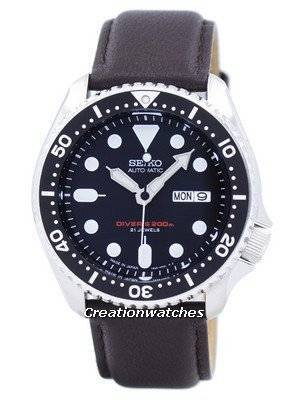 Seiko Automatic Diver\'s Ratio Dark Brown Leather SKX007J1-LS11 200M Men\'s Watch