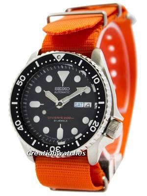 O relógio dos homens da correia NATO 200M OTAN do mergulhador automático de Seiko SKX007J1-NATO7