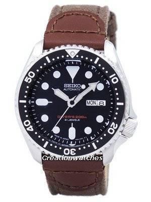 Seiko Automatic Diver's Canvas Strap SKX007J1-NS1 200M Men's Watch