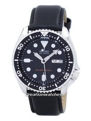 Seiko Automatic Diver's 200M Ratio Black Leather SKX007K1-LS10 Men's Watch