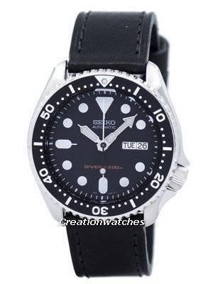 Seiko Automatic Diver's 200M Ratio Black Leather SKX007K1-LS8 Men's Watch