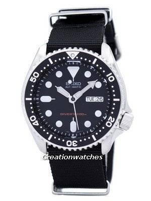 Seiko Automatic Diver\'s 200M NATO Strap SKX007K1-NATO4 Men\'s Watch