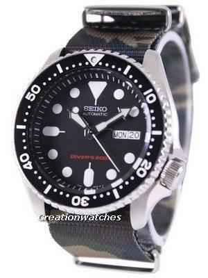 Seiko Automatic Diver's 200M Army NATO Strap SKX007K1-NATO5 Men's Watch