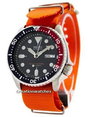 Seiko Automatic Diver\'s 200M NATO Strap SKX009J1-NATO7 Men\'s Watch