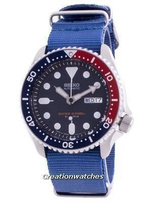 Seiko Automatic Diver\'s SKX009J1-var-NATO8 200M Japan Made Men\'s Watch