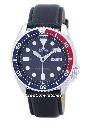 Seiko Automatic Diver's 200M Ratio Black Leather SKX009K1-LS10 Men's Watch