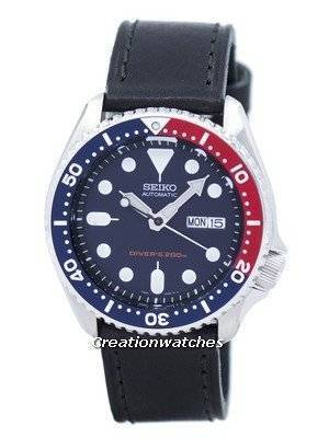 Seiko Automatic Diver\'s 200M Ratio Black Leather SKX009K1-LS8 Men\'s Watch