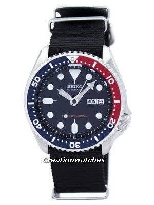 Seiko Automatic Diver\'s 200M NATO Strap SKX009K1-NATO4 Men\'s Watch