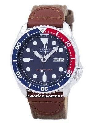 Seiko Automatic Diver's Canvas Strap SKX009K1-NS1 200M Men's Watch