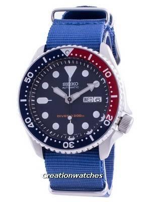 Seiko Automatic Diver\'s Deep Blue SKX009K1-var-NATO8 200M Men\'s Watch