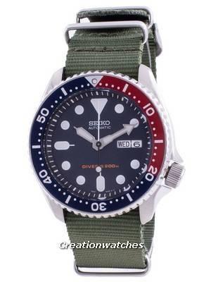 Seiko Automatic Diver\'s Deep Blue SKX009K1-var-NATO9 200M Men\'s Watch