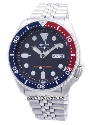 O relógio dos homens do bracelete do bracelete 200M Jubileu de Seiko Automatic Diver SKX009K2