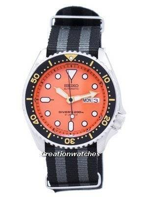 Seiko Automatic Diver\'s 200M NATO Strap SKX011J1-NATO1 Men\'s Watch
