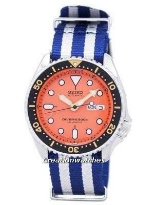 Seiko Automatic Diver's 200M NATO Strap SKX011J1-NATO2 Men's Watch