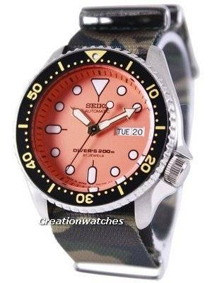 Seiko Automatic Diver\'s 200M Army NATO Strap SKX011J1-NATO5 Men\'s Watch