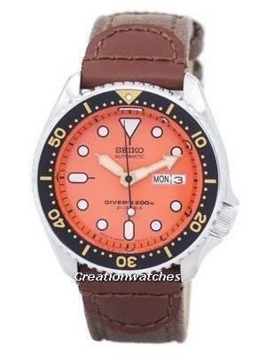 Seiko Automatic Diver's Canvas Strap SKX011J1-NS1 200M Men's Watch
