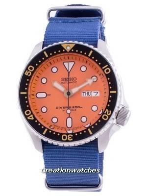 Seiko Automatic Diver\'s SKX011J1-var-NATO8 200M Japan Made Men\'s Watch