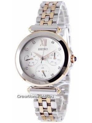Seiko Multi-Function Two Tone Crystals SKY700 SKY700P1 SKY700P Women's Watch