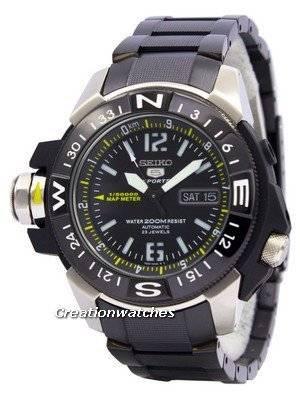 Seiko 5 200m Automatic Map Meter SKZ231 SKZ231K1 SKZ231K Men's Watch