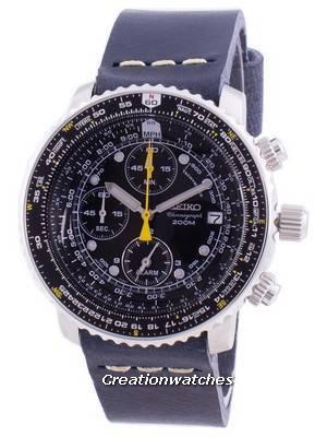 Relógio Seiko Pilot Flight SNA411P1-VAR-LS15, cronógrafo de quartzo 200M para homem