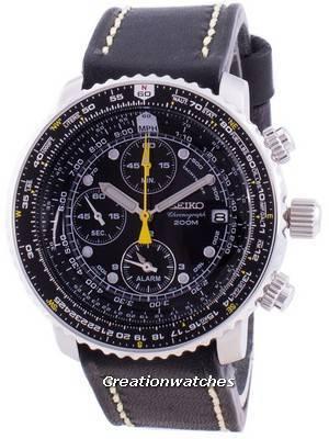 Relógio Seiko Pilot Flight SNA411P1-VAR-LS16, quartzo, cronógrafo 200M para homem