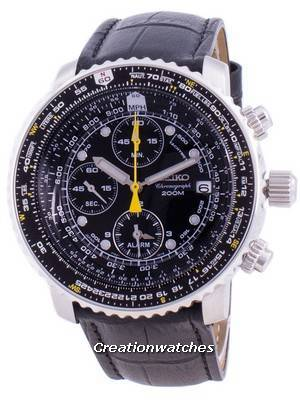 Seiko Pilot\'s Flight SNA411P1-VAR-LS6 Quartz Chronograph 200M Men\'s Watch