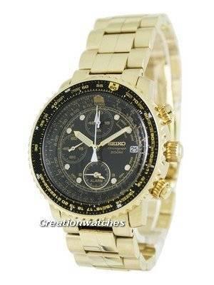 Seiko Flight Alarm Chronograph Pilot's SNA414 SNA414P1 SNA414P Men's Watch