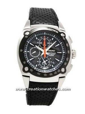 e67e1c0da24e Reloj de cuero Seiko Sportura Chrono Tachy de 100 m SNAA95P2 es