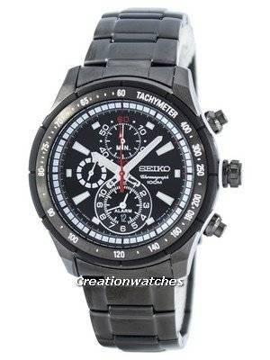 Seiko Quartz Alarm Chronograph Tachymeter SNAC91 SNAC91P1 SNAC91P Men\'s Watch