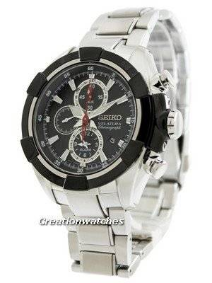 Seiko Velatura Alarm Chronograph SNAF39 SNAF39P1 SNAF39P Men's Watch