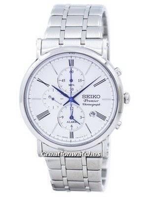 Seiko Primeiro Chronograph Alarm Quartz Relógio de SNAF73 SNAF73P1 SNAF73P Men