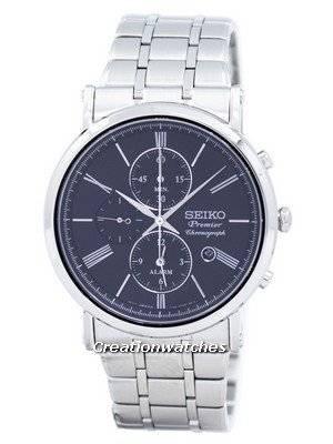 Relógio Seiko Premier Chronograph Alarme De Quartzo SNAF75 SNAF75P1 SNAF75P Homens