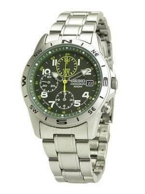 Seiko Chronograph Military Watch SND377P3 SND377